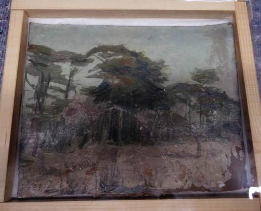 Louis Hartz: Bomen in de zon (Groenendaal). Frans Hals Museum