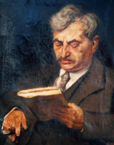 Portret door Louis Hartz van wereldkampioen schaken Emanuel Lasker, 1921,