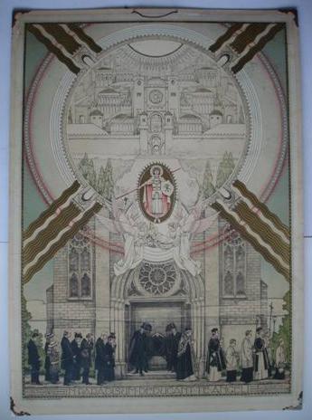 Liturgische schoolplaat uit 1916 door Anton Molkenboer 'De Uitvaart'.