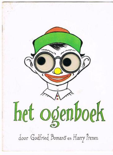 Vooromslag van 'Het ogenboek', een gezamenlijke uitgave van Godfried Bomans en Harry Prenen