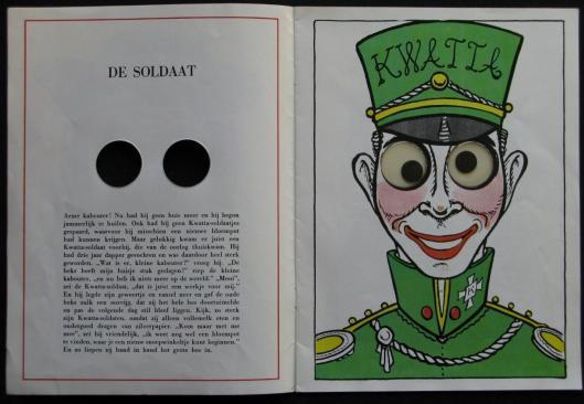 De soldaat. Uit 'Het Ogenboek' van Godfried Bomans (tekst) en Harrie Prenen (illustraties)