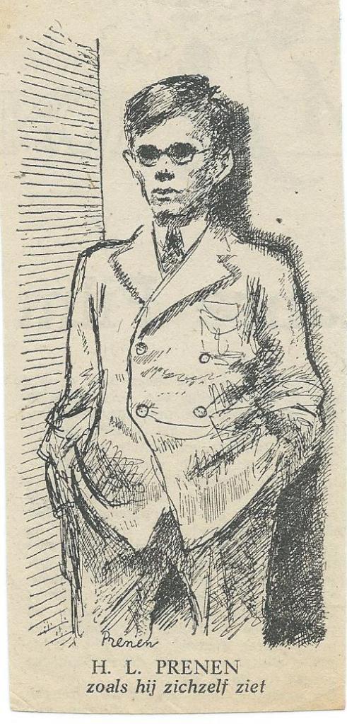 H.L.Prenen zoals hij zichzelf ziet. Gepubliceerd in 1948 n.a.v. zijn uitgave: 'Tafelrede en andere gedichten (Amsterdam, Elsevier, 1948).