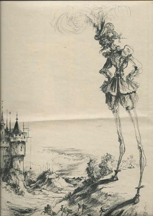 Prent van de week: Het Fantoom, uit: Katholieke Illustratie, 1949, p.536.
