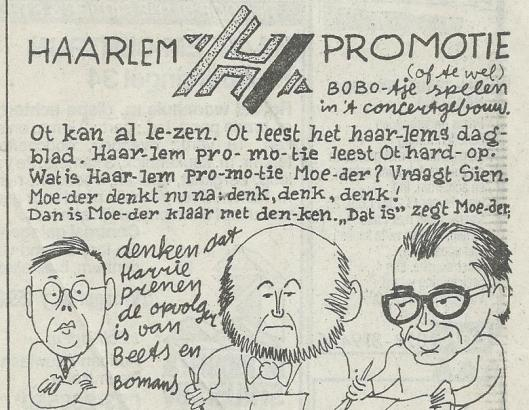 'Schrijfblokje' door Gerrit van Dijk, uit Haarlem Dagblad van 4 februari 1989.