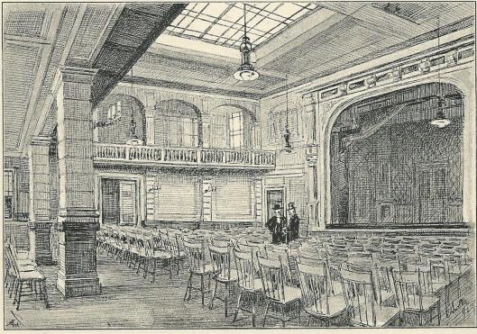 Ons Huis in Amsterdam: Muziek- en Toneelzaal, 1892, door Antoon Molkenboer