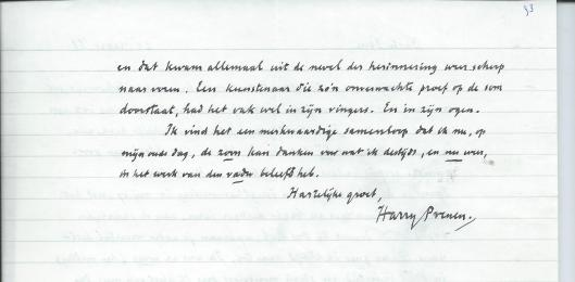 Vervolg brief van Harry Prenen aan Sem Hartz, 21 maart 1988.