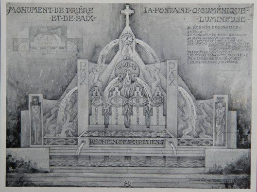 Ontwerp voor fontein door Antoon Molkenboer, 1953