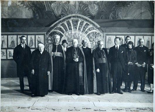 Opening van expositie in Rome, 29 april 1928