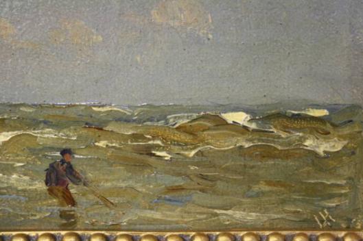 Nog een schilderij van een 'schelpenvisser', gesigneerd L.H. = Louis Hartz