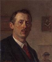 Zelfportret van Louis Hartz