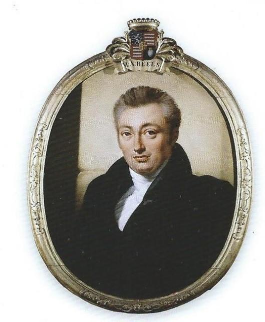 Portret van M.A.Beels door Cornelis Kruseman (1825)