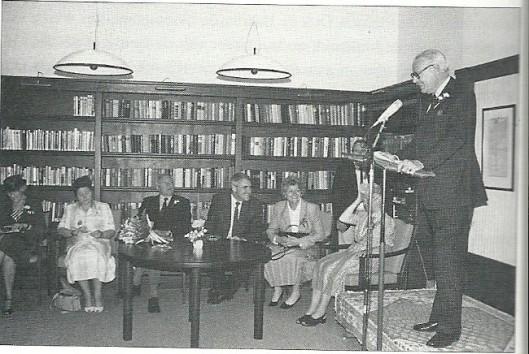 29 mei hield voorzitter H.Lepel een toespraak tijdens feestelijkheden rond de heropening van het verzorgingshuis Spaar en Hout