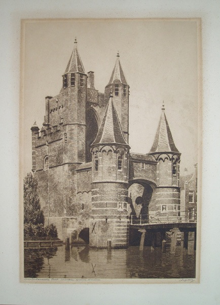Dirk Haring, ets van de Amsterdamse Poort in Haarlem