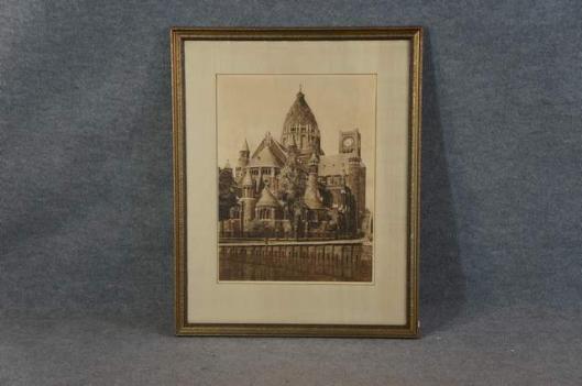 Ets van de Kathedraal Sint Bavo in Haarlem door Dirk Harting