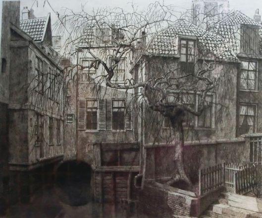 Ets van de Zuidsingel in Amersfoort door Dirk Harting