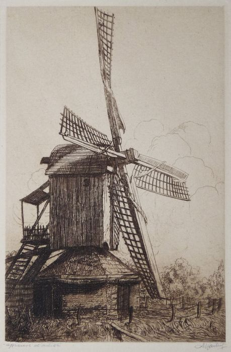 Ets van een molen door Dirk Harting