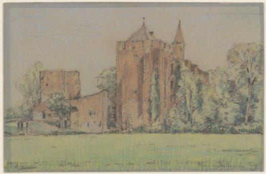 Herman Heuff: ruïne van Brederopde (NHA)