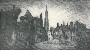 Bij een tentoonstelling van grafische kunst in 1929, georganiseerd door de Kunstkring Heemstede (opgericht in 1927) was Herman Heuff met een ets van Antwerpen vertegenwoordigd.