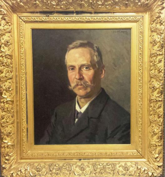 Zelfportret G.H.G.von Brucken Fock (Gemeente Heemstede)