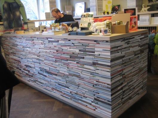 Boekenbalie winkel in het Middelheimmuseum, Antwerpen