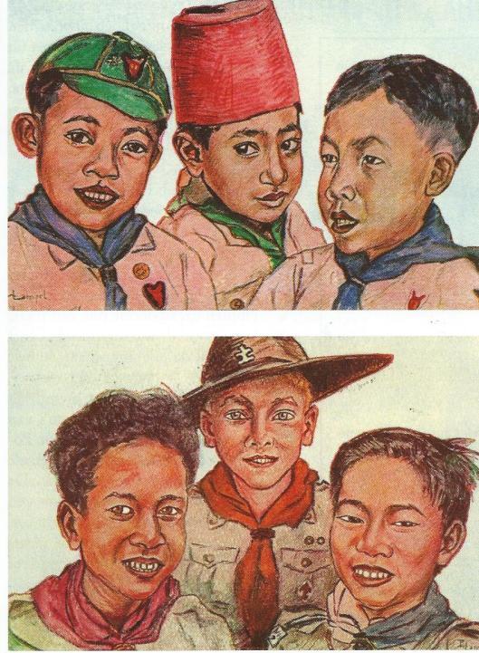 Kaarten van padvinders uit Nederlands Oost-Indie