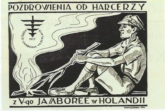 De scouts uit Polen hadden een eigen 'velddrukkerij' bij zich. Kenner van padvinderij en jamborees bij uitstek is de heer Jan van der Steen. Aan de Wereld jamboree van 1937 op ansichtkaarten wijdde hij 2 artikelen in: VDP Bulletin, april 2010, p.28-32 en VDP Bulletin juli 2010, p. 17-21