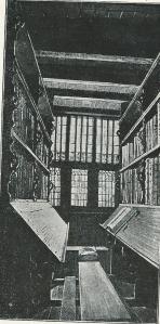 Foto van stadsboekkamer in Westerkerk Enkhuizen uit 1915