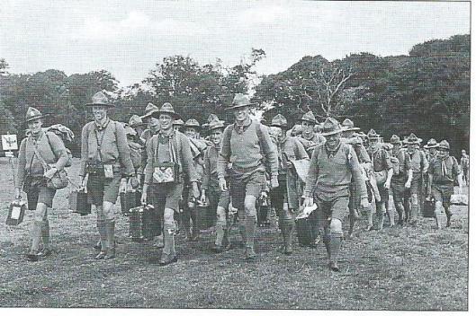 Binnentrekkende Australische scouts