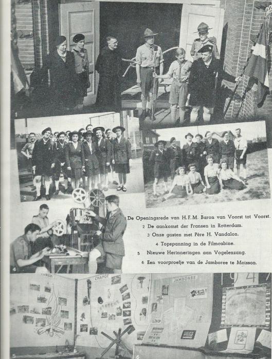 Fotocollage 1937 van Triniteitslyceum Haarlem, uit: Gedenkboek 1922-1947