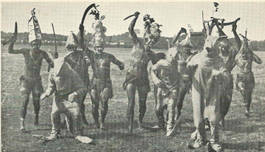 Spel van de Australische sans. Aboriginals jaren op wilde dieren.