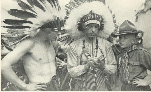 Aks indianen uitgedoste Amerikaanse scouts, 1937
