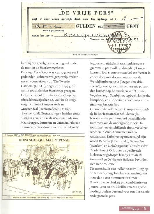 Vervolg uit Kennemer Kroniek, 6e jrg., nr. 23, oktober 2002