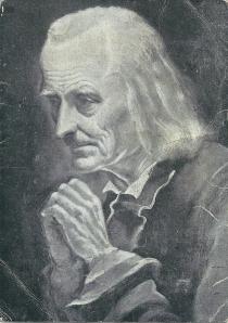 Authentiek portret van de pastoor van Ars, Jean Baptiste Vianney (1776-1859)