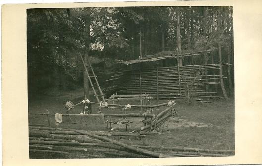 Fotokaart van padvinderskamp Ommen uit 1936