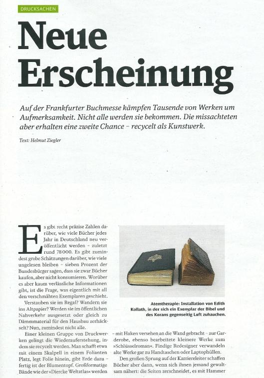 Kunst uit boeken. In: Mobil, 10.2013, p.10