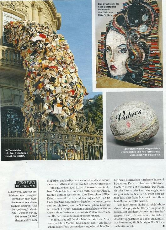 Kunst aus Büchern. Uit: Mobil, 10.2013, p.108
