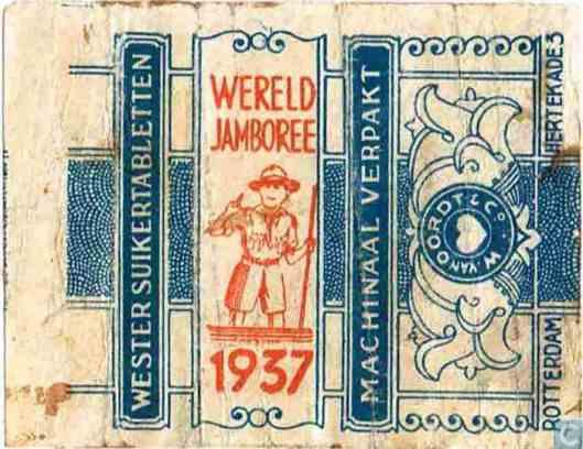 Wikkel van Wereldjamboree Vogelenzang 1937