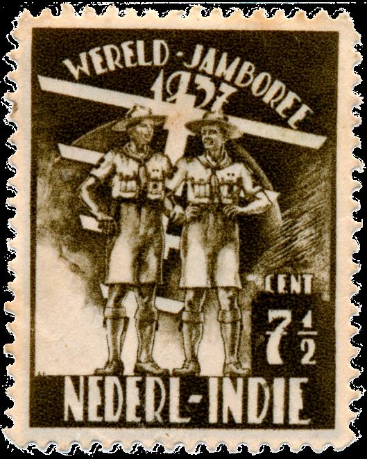 In 1937 in Nederlands-Indië uitgegeven postzegel