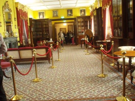 Interieurfoto bibliotheek Kilkenny kasteel