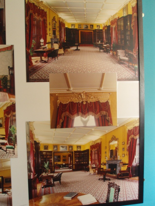 Fotopaneel bibliotheek Kilkenny kasteel, Ierland