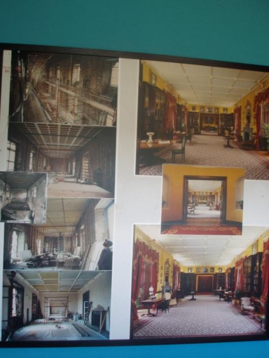 Fotopaneel restauratie bibliotheek in Kilkenny kasteel