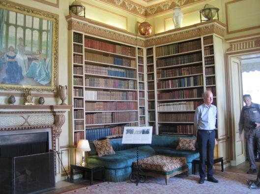 Hans Krol in Leeds Castle library, Kent, 4 juni 2015