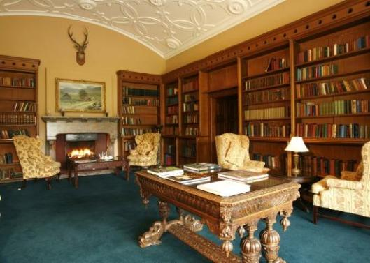 Adare Manor Hotel Library, Ireland