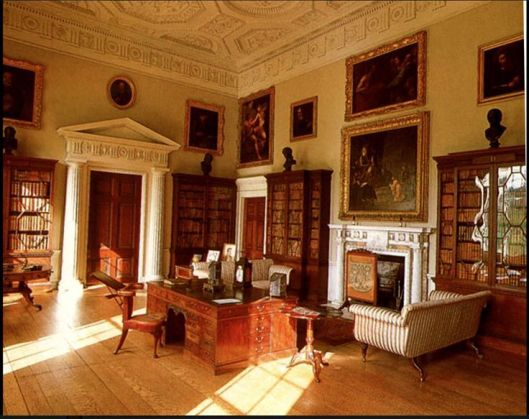Anmer Hall, Kedleston Hall, Anmer Hall (Norfolk): Geogian Country House library