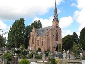Kerkhof Sint Barbara in Haarlem. Grafnummer 29 betreft J.B.Bomans. Hij deelt het graf met zijn zoontje Herman Olf die op 9-jarige leeftijd is overleden en met zijn echtgenote Arnolda Reynart, die in 1956 is bijgezet. Zoon Godfried Bomans vervaardigde tekst op zijn zerk: