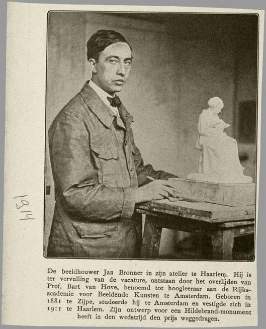 Al in 1914 was Jan Bronner bezig met zijn eerste ontwerpen voor een Hildebrand-monument in de Haarlemmerhout