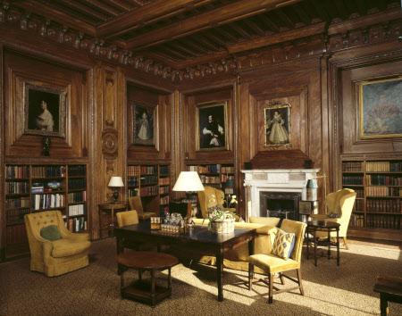 Cliveden Mansion library. Taplow (Buckinghamshire) Beheerd door the National Tust