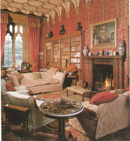 Connolly , in gothic style, Dunsany castle, County Meath (site: Beautiful Libraries)