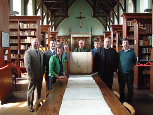 18 may 2009: A 300 foot scroll returned to Ireland for the first time in 160 years as a result of collaboration between NUI Maynouth and Castle Howard. Now the focus of an important scholarly investigation carried out by the Centre for the Study bof Historic Irish Houses and Estates.