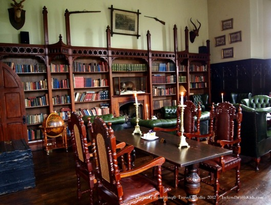 Kinnity castle/hotel library in County Offely